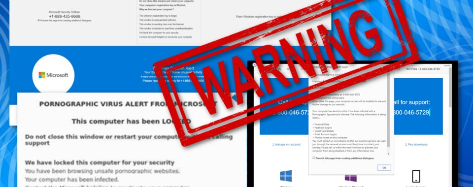 Warning: there is an aggressive pornographic virus scam